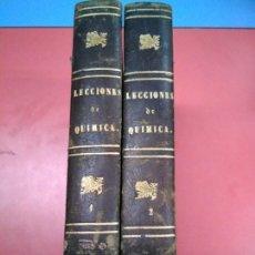 Libros antiguos: LECCIONES DE QUÍMICA 1 Y 2. M J GIRARDIN - FRANCISCO CARBONELL Y FONT. 1857. SELLO BIBLIO REGIMIENTO. Lote 154239374