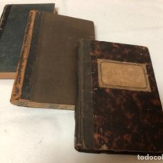 Libros antiguos: LOTE COMPUESTO DE TRES ANTIGÜAS LIBRETAS PARA APUNTES , MUY ANTIGÜAS UNA DE ELLAS ALEMANA. Lote 154252186