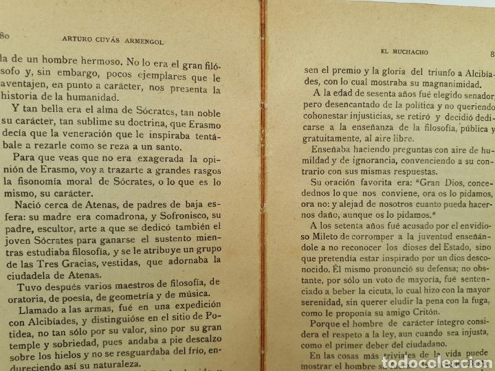 Libros antiguos: EL MUCHACHO. Libro de lectura instructiva,Educativa y amena. Arturo Cuyás Armengol. 1918 - Foto 10 - 154374166