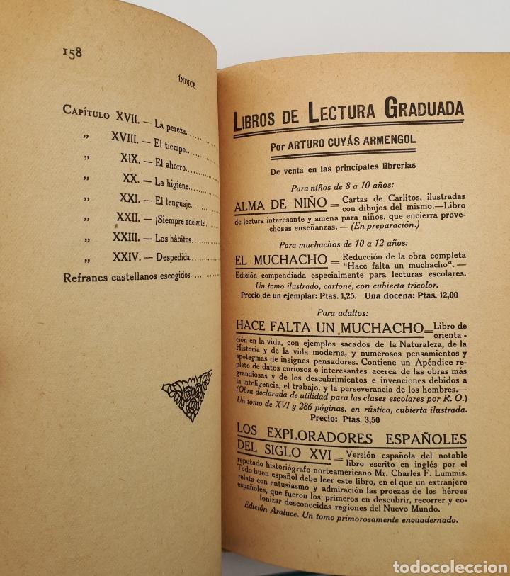 Libros antiguos: EL MUCHACHO. Libro de lectura instructiva,Educativa y amena. Arturo Cuyás Armengol. 1918 - Foto 12 - 154374166