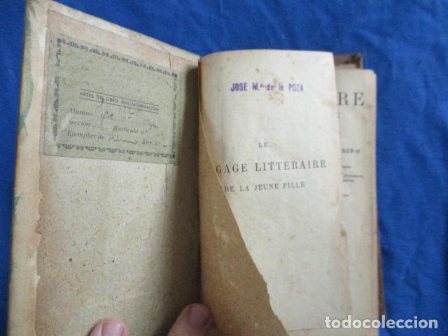 Libros antiguos: LE BAGAGE LITTERARIRE DE LA JEUNE FILLE (EN FRANCES) - Foto 6 - 154432614