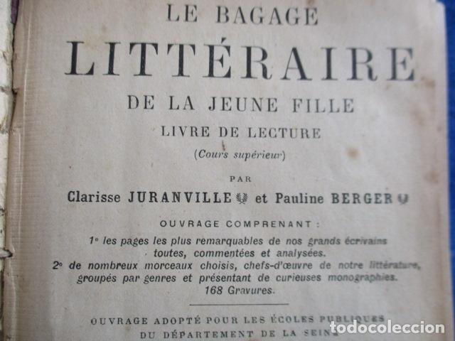Libros antiguos: LE BAGAGE LITTERARIRE DE LA JEUNE FILLE (EN FRANCES) - Foto 10 - 154432614