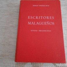 Libros antiguos: LIBRO DE ESCRITORES MALAGUEÑOS . Lote 154474002