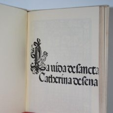 Libros antiguos: ''LA VIDA DE SANTA CATHERINA DE SENA'' 1499. Lote 154474286