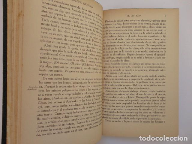 Libros antiguos: Baltasar Gracián - El Criticón,..,revisada por Julio Cejador - Renacimiento, 1913-1914. - Foto 3 - 154548182