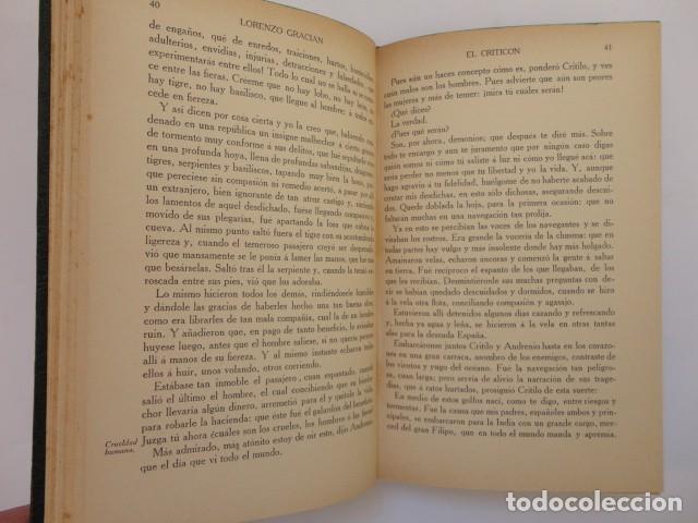 Libros antiguos: Baltasar Gracián - El Criticón,..,revisada por Julio Cejador - Renacimiento, 1913-1914. - Foto 4 - 154548182
