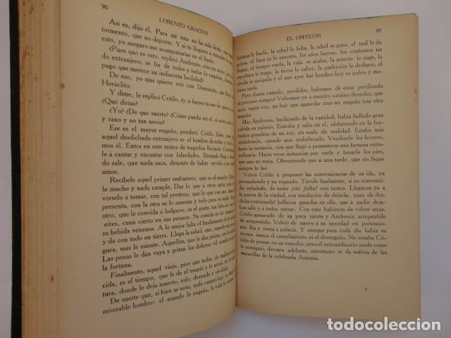 Libros antiguos: Baltasar Gracián - El Criticón,..,revisada por Julio Cejador - Renacimiento, 1913-1914. - Foto 5 - 154548182
