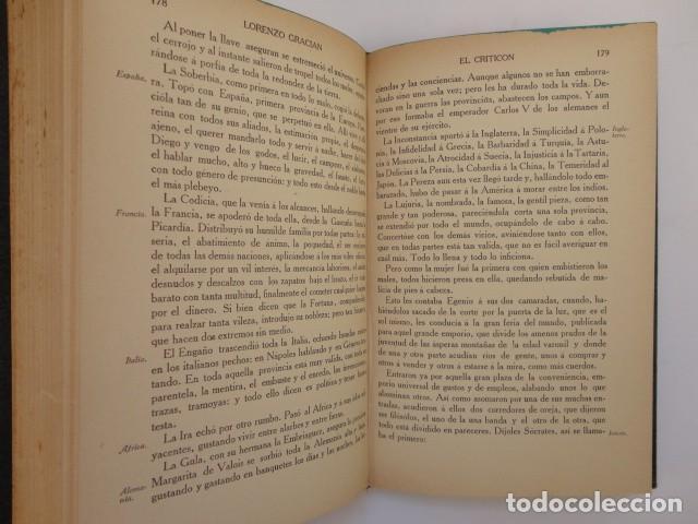 Libros antiguos: Baltasar Gracián - El Criticón,..,revisada por Julio Cejador - Renacimiento, 1913-1914. - Foto 6 - 154548182