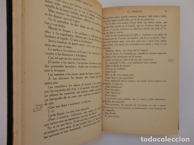Libros antiguos: Baltasar Gracián - El Criticón,..,revisada por Julio Cejador - Renacimiento, 1913-1914. - Foto 8 - 154548182