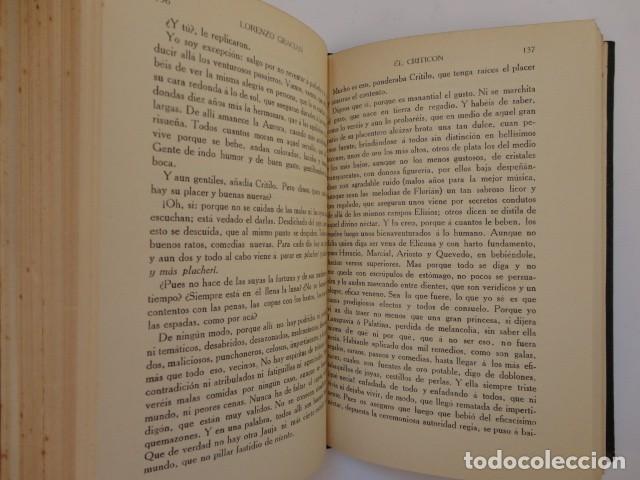 Libros antiguos: Baltasar Gracián - El Criticón,..,revisada por Julio Cejador - Renacimiento, 1913-1914. - Foto 9 - 154548182