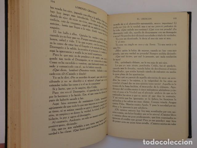Libros antiguos: Baltasar Gracián - El Criticón,..,revisada por Julio Cejador - Renacimiento, 1913-1914. - Foto 10 - 154548182