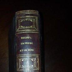 Libros antiguos: RECUEIL EN PROSE ET EN VERS DES PLUS BEAUX MORCEAUX DE LA LITTÉRATURE FRANÇAISE - 1829. Lote 154552566