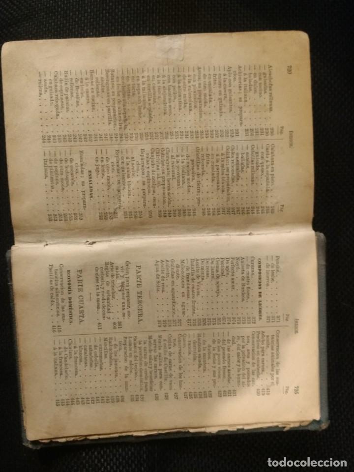Libros antiguos: LIBRO DE LAS FAMILIAS NOVISIMO MANUAL PRACTICO DE COCINA ESPAÑOLA ,FRANCESA Y AMERICANA - Foto 4 - 154621942