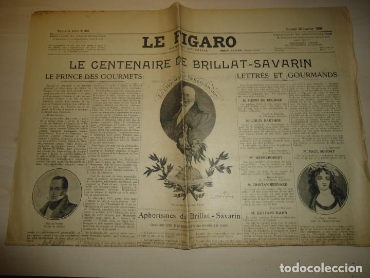 LE FIGARO - CENTENARIO DE BRILLAT SAVARIN - 30 ENERO 1926 (Libros Antiguos, Raros y Curiosos - Cocina y Gastronomía)