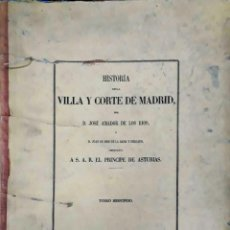 Libros antiguos: HISTORIA DE LA VILLA Y CORTE DE MADRID - TOMO 2. Lote 154672894