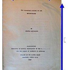 Libros antiguos: TESIS DOCTORAL EN PUERTO RICO : EL PARÁSITO AMOEBAE DEL HOMBRE. SYLVIA MONTESERÌN 1949. LIBRO UNICO. Lote 154743306
