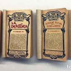 Livres anciens: 4 TOMOS BIBLIOTECA PRIVADA : HIGIENE SEXUAL DEL SOLTERO Y LA SOLTERA; LA IMPOTENCIA; NOCHE DE BODAS;. Lote 154773218