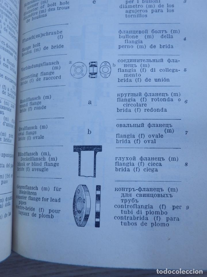 Libros antiguos: Diccionario Técnico Ilustrado Alemán-Inglés-Francés-Ruso-Italiano-Español - Alfred Schlomann - Foto 9 - 154809254