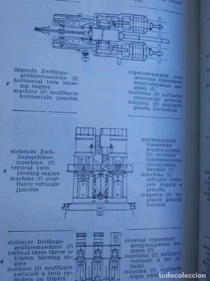 Libros antiguos: Diccionario Técnico Ilustrado Alemán-Inglés-Francés-Ruso-Italiano-Español - Alfred Schlomann - Foto 12 - 154809254