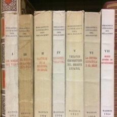 Libros antiguos: AÑO 1953-1964 - BIBLIOTECA LITERARIA DEL RELOJERO - 7 VOLÚMENES COMPLETO. Lote 154850190