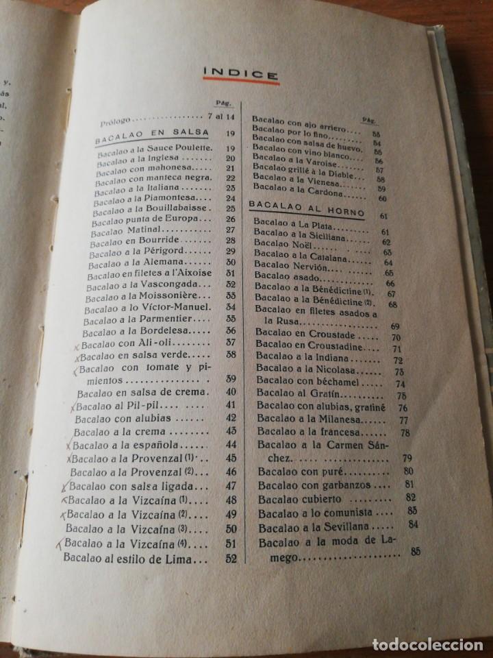 Libros antiguos: Recetas de Bacalao. Pysbe. Ilustraciones Penagos y Garmendia. - Foto 10 - 154925722
