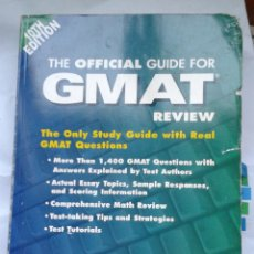 Libros antiguos: THE OFFICIAL GUIDE FOR GMAT REVIEW. INCLUYE CD. 10TH EDITION. ETS. Lote 154938550