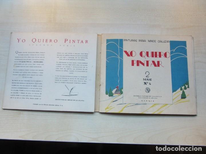 Libros antiguos: Libro de Dibujo Yo quiero pintar 2ª serie nº 4 Editor Saturnino Calleja 1936 - Foto 2 - 154970050