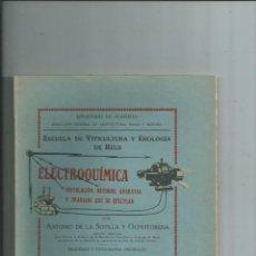 Libros antiguos: VINOS VITICULTURA ENOLOGIA ELECTROQUÍMICA A. DE LA SOTILLA Y OCHOTORENA INTONSO. Lote 154992446