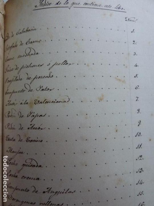 Alte Bücher: LIBRO ANTIGUO DE COCINA MANUSCRITO. RECETAS. - Foto 3 - 155073270