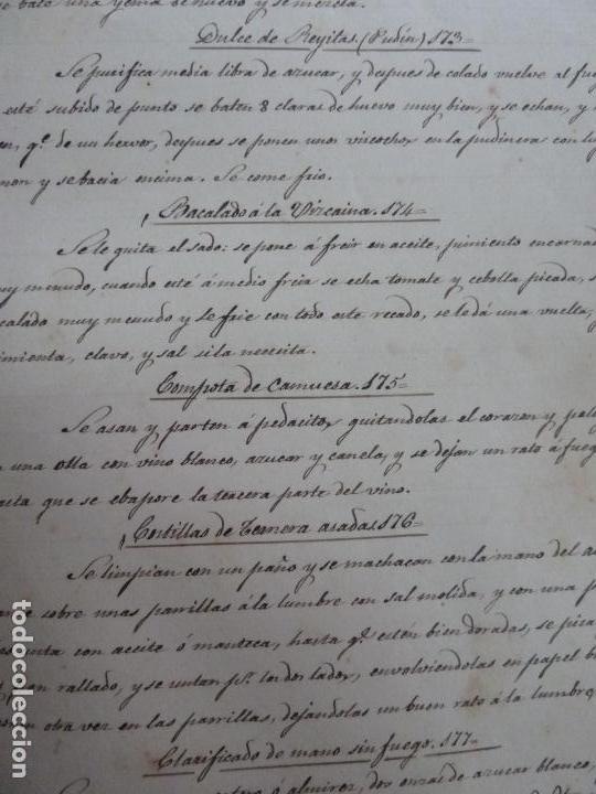 Alte Bücher: LIBRO ANTIGUO DE COCINA MANUSCRITO. RECETAS. - Foto 4 - 155073270