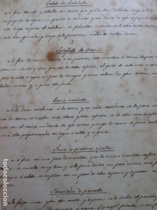Alte Bücher: LIBRO ANTIGUO DE COCINA MANUSCRITO. RECETAS. - Foto 6 - 155073270