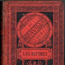 Old books - Libro Biblioteca de maravillas Los Bufones A. gazeau 1885 con ilustraciones ver fotos - 155087622