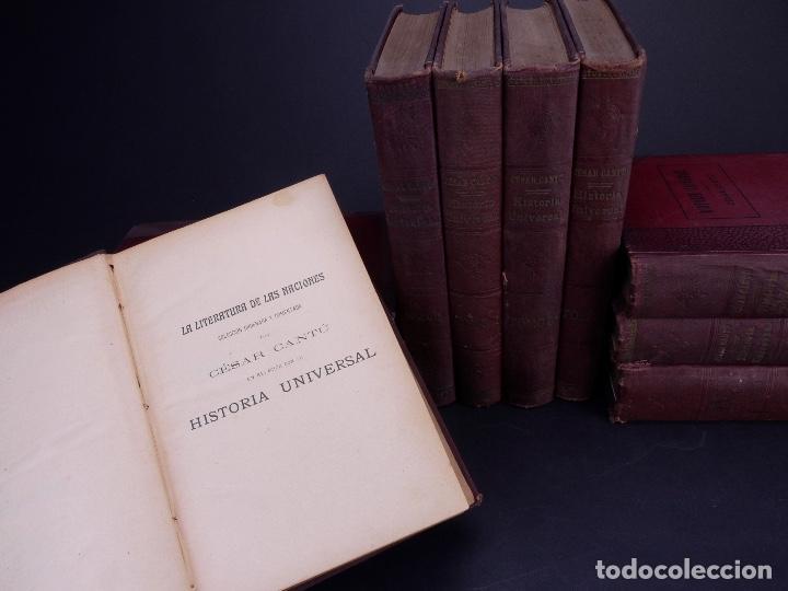 CESAR CANTÚ. HISTORIA UNIVERSAL. TOMOS DEL 1 AL 10. BARCELONA 1901 (Libros Antiguos, Raros y Curiosos - Historia - Otros)