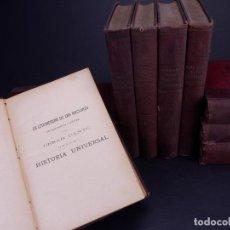 Libros antiguos: CESAR CANTÚ. HISTORIA UNIVERSAL. TOMOS DEL 1 AL 10. BARCELONA 1901. Lote 155089654