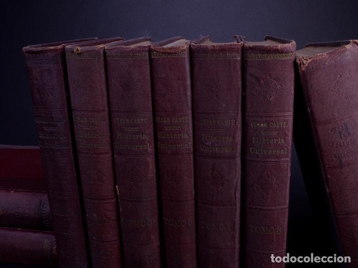 Libros antiguos: CESAR CANTÚ. HISTORIA UNIVERSAL. TOMOS DEL 1 AL 10. BARCELONA 1901 - Foto 2 - 155089654