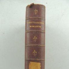 Libros antiguos: BREVIARIUM ROMANUM EX DECRETO SS.CONCILII TRIDENTINI BORDES COLOR DORADO. Lote 155107378