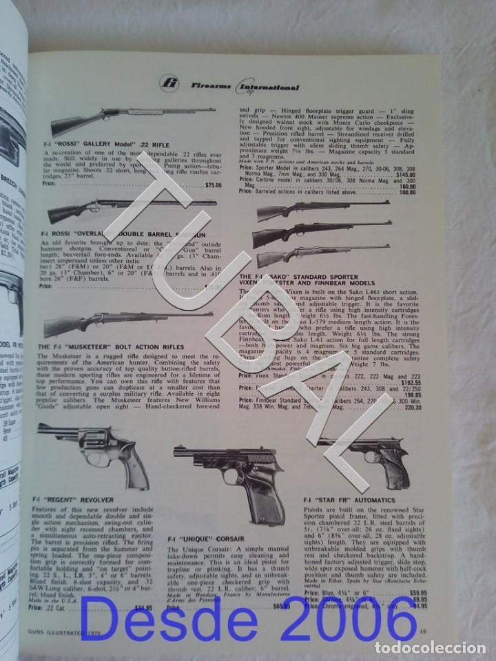 Libros antiguos: TUBAL CAZA CINEGETICA GUNS ILLUSTRATED 1970 - Foto 7 - 155137110