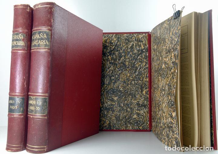 Libros antiguos: 3 Volumenes encuadernados de Revista Bancaria años completos 1932/33/34/35 - Foto 3 - 155165570