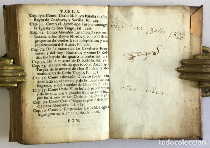 Alte Bücher: HISTORIA DEL EMPERADOR CARLO MAGNO, en la qual se trata de las grandes Proezas, y hazañas de los Doz - Foto 6 - 155232954