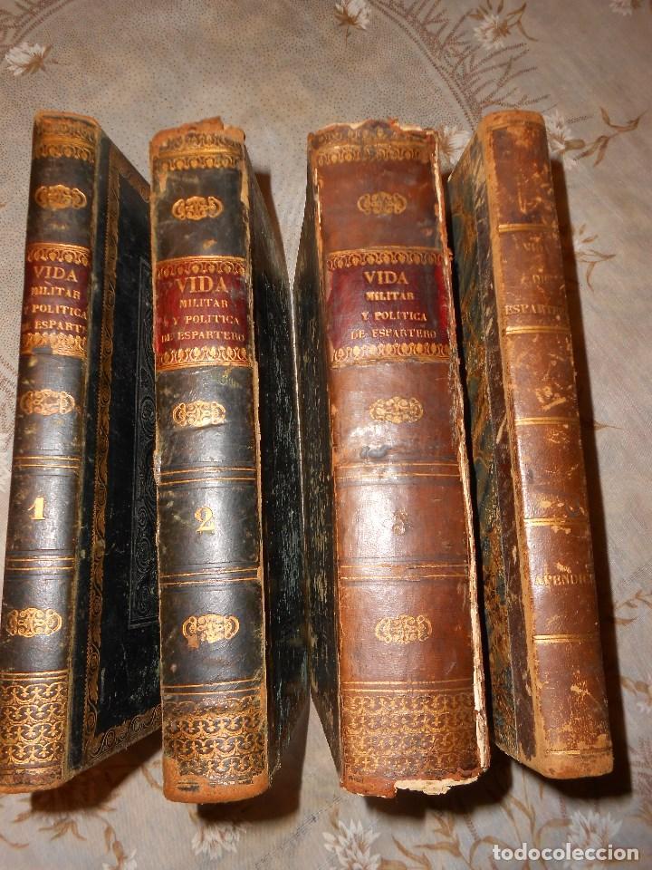 Libros antiguos: vida militar y política de espartero. Año 1844 3 tomos más apéndice. - Foto 2 - 155245210