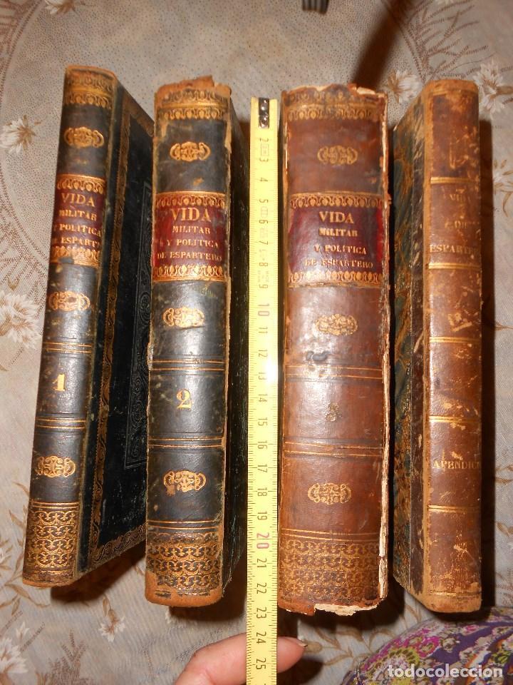Libros antiguos: vida militar y política de espartero. Año 1844 3 tomos más apéndice. - Foto 3 - 155245210