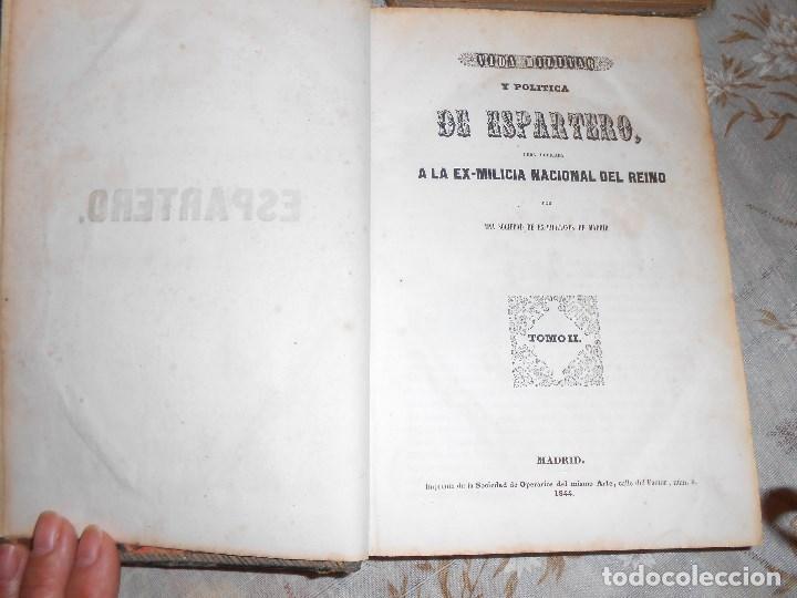 Libros antiguos: vida militar y política de espartero. Año 1844 3 tomos más apéndice. - Foto 6 - 155245210