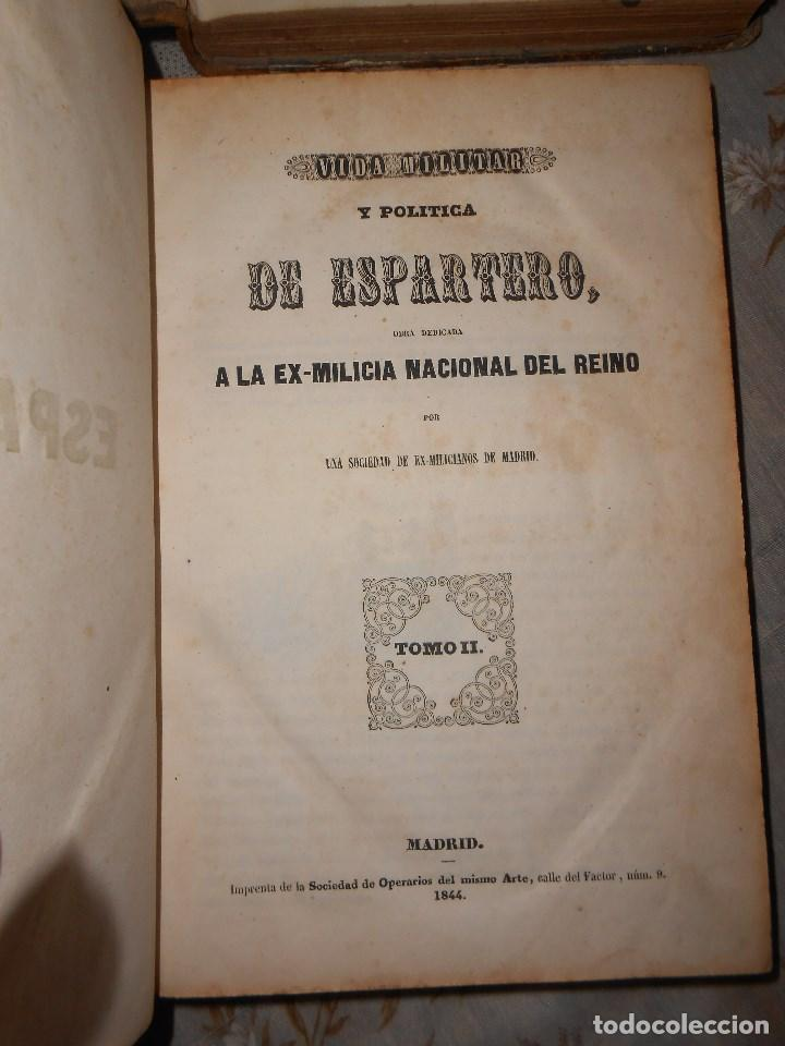 Libros antiguos: vida militar y política de espartero. Año 1844 3 tomos más apéndice. - Foto 7 - 155245210