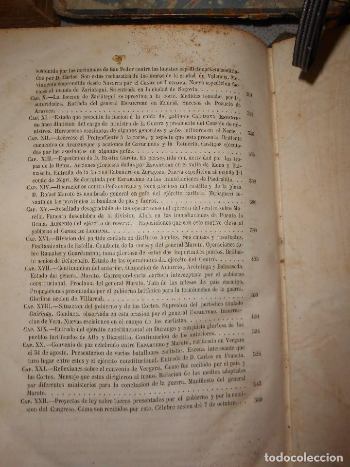 Libros antiguos: vida militar y política de espartero. Año 1844 3 tomos más apéndice. - Foto 13 - 155245210