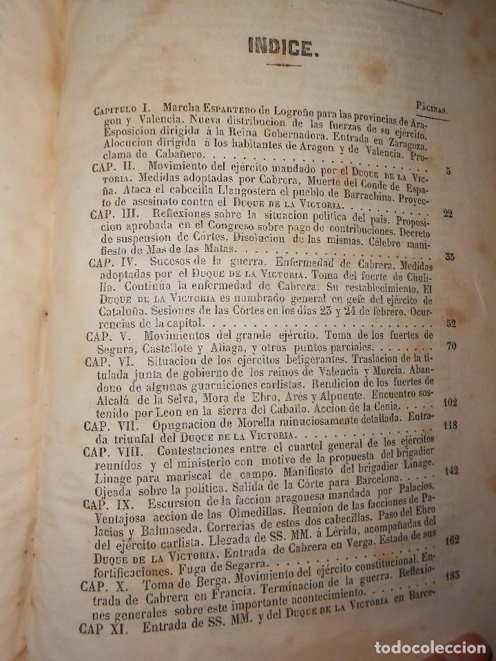 Libros antiguos: vida militar y política de espartero. Año 1844 3 tomos más apéndice. - Foto 15 - 155245210