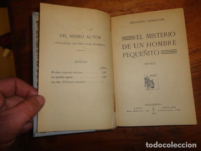 EL MISTERIO DEL HOMBRE PEQUEÑITO. NOVELA - ZAMACOIS, EDUARDO (Libros antiguos (hasta 1936), raros y curiosos - Literatura - Narrativa - Otros)