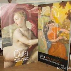 Libros antiguos: GUÍA MUSEO DE BELLAS ARTES DE BILBAO + GUÍA ARTISTAS VASCOS. 1ª EDICIÓN 2011. EXCELENTES EJEMPLARES.. Lote 155346018