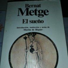 Libri antichi: EL SUEÑO. PLANETA. BERNAT METGE. Lote 155409234
