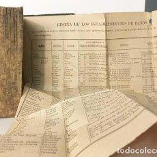 Libros antiguos: GUÍA GEOGRÁFICO-MILITAR DE ESPAÑA Y PROVINCIAS ULTRAMARINAS (TOM 1. LOGROÑO, 1879 HOJAS DESPLEGABLES. Lote 155494422