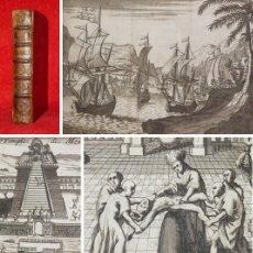 Libros antiguos: AÑO 1704 - HISTORIA DE LA CONQUISTA DE MÉXICO - 11 GRABADOS - 9 DESPLEGABLES - HERNAN CORTES. Lote 155542962